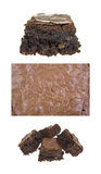 Home made brownies Stock Images