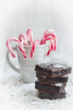 Home made brownies Stock Photography