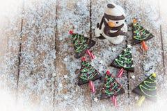Home made brownies winter tree shape Stock Photo