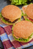 Home made burgers Royalty Free Stock Photography