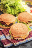 Home made burgers Stock Image