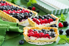 Home-made cake with summer berries. Stock Image