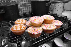 Home made cakes on the oven Royalty Free Stock Photo