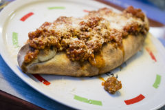 Home made calzone Royalty Free Stock Photo