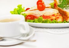 Home-made canape sandwiches Royalty Free Stock Image