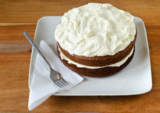 Home made carrot cake Royalty Free Stock Photos
