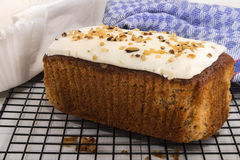 Home made carrot cake on a cooling rack Stock Photo