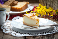 Home made cheese cake Royalty Free Stock Image