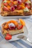 Home made cheesecake Stock Image