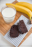 Home made chocolate banana bread Royalty Free Stock Photography