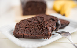 Home made chocolate banana bread Stock Image