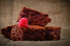 Home made Chocolate brownies Stock Images