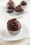 Home made Chocolate Buttercream Cupcakes Royalty Free Stock Photo