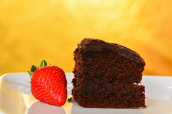 Home made chocolate cake. Stock Image