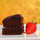 Home made chocolate cake. Stock Images