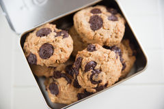Home made Chocolate Chip Cookies Royalty Free Stock Photos