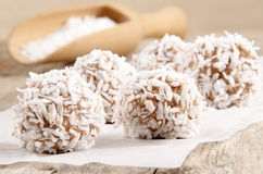 Home made chocolate coconut truffle Royalty Free Stock Photos