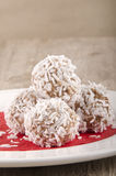 Home made chocolate coconut truffle Royalty Free Stock Images