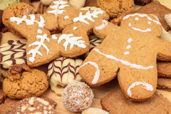 Home made Christmas cookies Royalty Free Stock Image