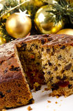 Home made Christmas fruit cake Stock Photos