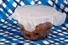 Home made Christmas pudding Royalty Free Stock Photography