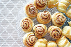 Home made cinnamon rolls on the table Stock Photo