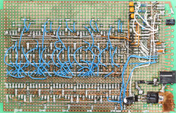 Home made circuit board, lots of wires Royalty Free Stock Photos