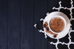 Home-made cocoa with cinnamon Royalty Free Stock Image