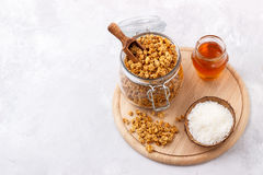 Home made coconut granola Royalty Free Stock Image
