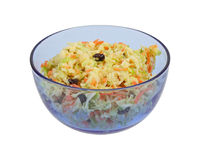 Home Made Cole Slaw Blue Bowl Royalty Free Stock Photo