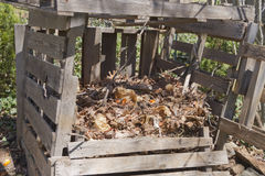 Home Made Compost Bin Royalty Free Stock Photo