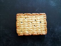 Home made cookies isolated on a black  background royalty free stock photography