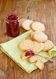 Home made cookies and jam Royalty Free Stock Images