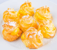 Home Made Cream Puff Close Up IV Royalty Free Stock Images