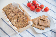 Home made crisp bread Stock Images