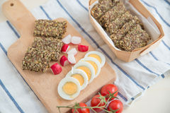 Home made crisp bread Royalty Free Stock Images