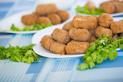 Home-made croquettes Royalty Free Stock Photos
