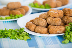 Home-made croquettes Stock Photo