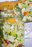 Home made cultured or fermented vegetables royalty free stock photos