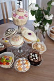 Home made cup cakes Stock Images