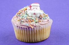 Home made cupcake with strawberry buttercream Stock Images