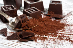 Home made dark chocolate Royalty Free Stock Images