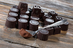 Home made dark chocolate Stock Image