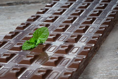 Home made dark chocolate Stock Images