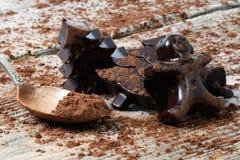 Home made dark chocolate Royalty Free Stock Photography
