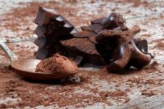 Home made dark chocolate Stock Photo