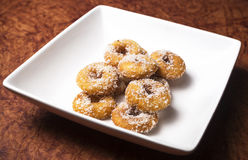 Home made delicious Dough Nuts. Dough Nuts are a type of fried dough confectionery or dessert food or sweet dishes Royalty Free Stock Images