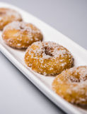 Home made delicious Dough Nuts. Dough Nuts are a type of fried dough confectionery or dessert food or sweet dishes Stock Images