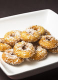 Home made delicious Dough Nuts. Dough Nuts are a type of fried dough confectionery or dessert food or sweet dishes Stock Image
