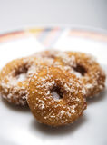 Home made delicious Dough Nuts. Dough Nuts are a type of fried dough confectionery or dessert food or sweet dishes Royalty Free Stock Photos